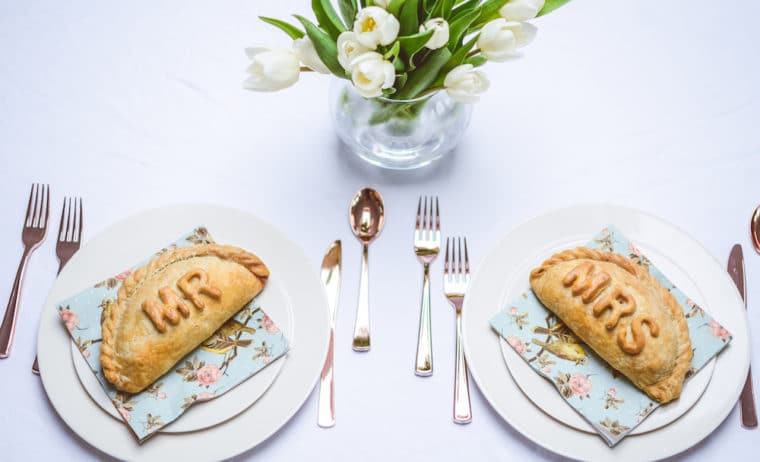 Cornish pasties for weddings and parties